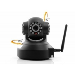 TELECAMERA IP CAMERA CAM WIFI P2P REGISTRA MICRO SD DVR 11 LED LAN RJ45 REC