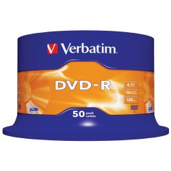 100 DVD -R VERBATIM vergini16X Advanced Azo dvdr 4.7 GB